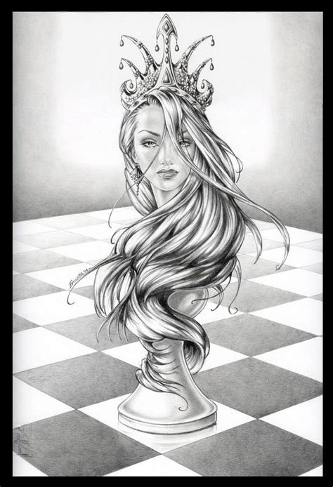 Queen Tattoo Drawings | queen chess piece drawings google search design