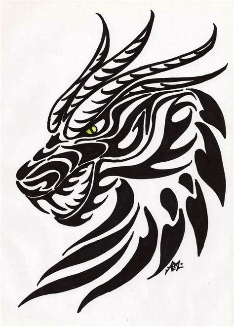 tribal dragon head tattoos 25 best ideas on