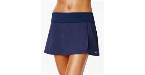 nike active swim skirt in blue lyst