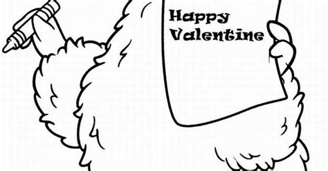 sesame street printable coloring pages valentine things