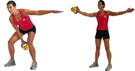 one arm dumbbell swing kettlebell cardio and strength exercises