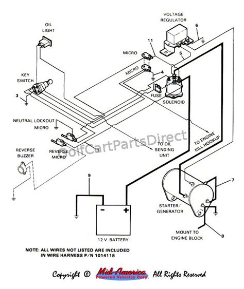wire diagram for 1992 ez go marathon electric golf cart
