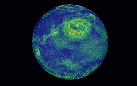 earth weather map earth wind map turns weather data into neon the