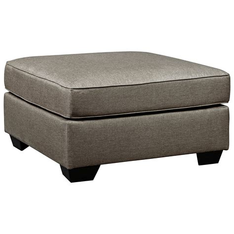 accent ottomans benchcraft calicho contemporary square oversized accent