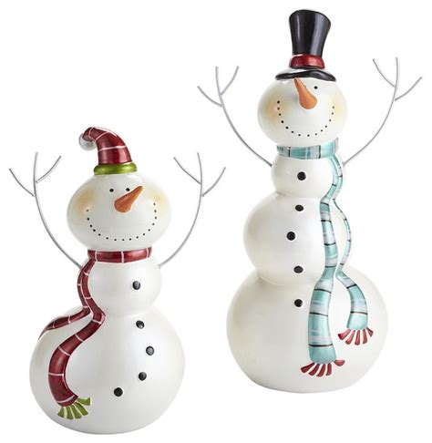 snowman decorations for the home joyful snowmen contemporary holiday decorations by