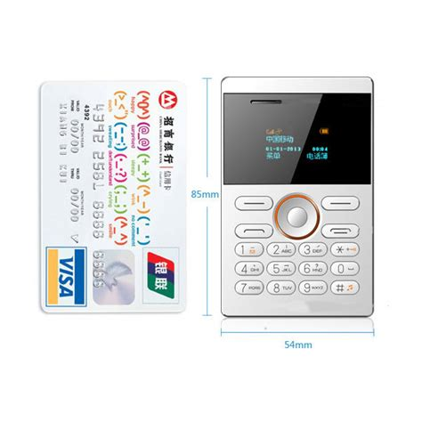 Ifcane E1 Card Phone Ultra Thin ifcane e1 0 96 inch 320mah standby vibration
