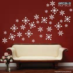 wall decals snowflakes christmas wall decor holidays interior decorate your living room with wall decals idesignarch