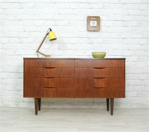 furniture 60s danish retro vintage teak chest of drawers sideboard tv