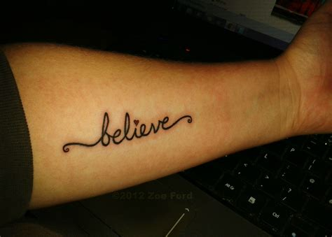 believe tattoo believe i designed for myself my husband paid
