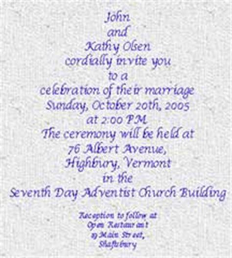 Contemporary Wedding Invitation Wording Exles