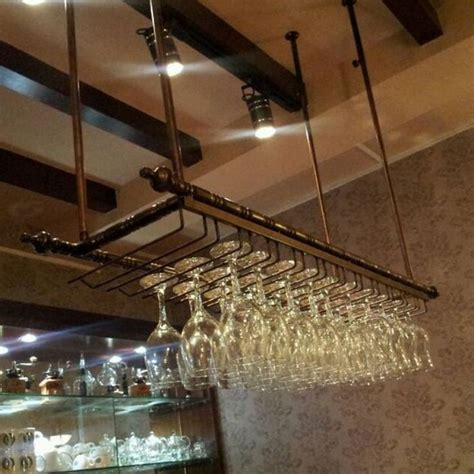 Hanging Bar Glass Rack by Best 25 Wine Glass Rack Ideas On Glass Rack Wine Glass Holder And Wine Glass Storage