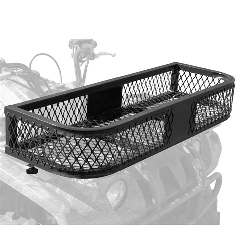 steel mesh atv front rack basket atvfb 3713 discount rs