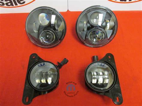 stock jeep headlights jeep wrangler upgraded led headlight and fog light set new