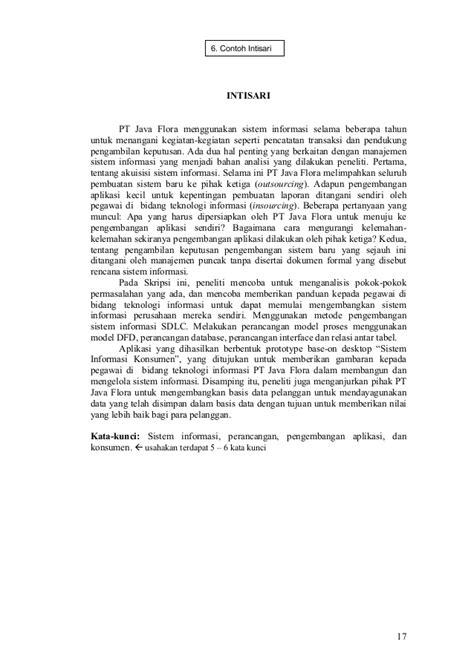 susunan format laporan skripsi pedoman penyusunan penulisan proposal penelitian dan skripsi