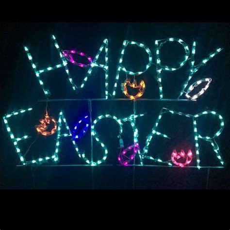 lighted decoration led outdoor decorations lighted easter