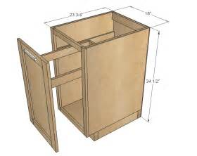 Building Kitchen Base Cabinets by Ana White 18 Quot Kitchen Base Cabinet Trash Pull Out Or