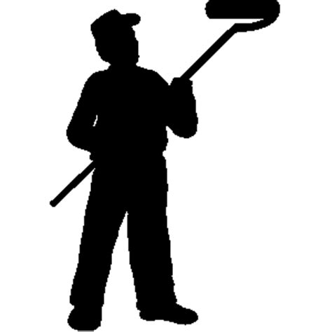 house painter clipart man painting house clipart 13