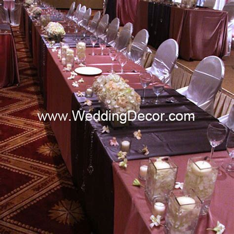 Head Table Decorations   Dusty Rose & Charcoal Gray   Flickr