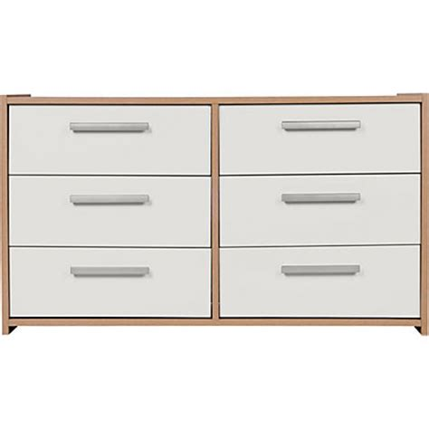 Sywell Bedroom Furniture Sywell 5 Drawer 1 Dr Chest White Black Gloss Effect