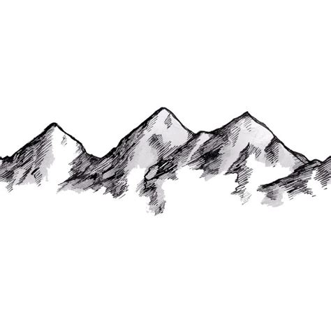 Sketches Mountains by Mountain Sketch Tattoos Mountain Sketch
