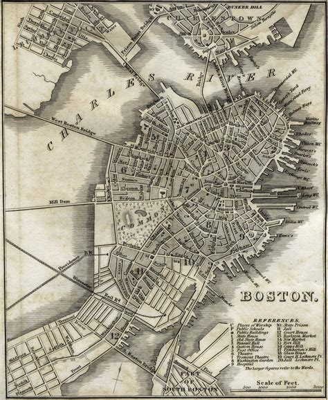 map boston history of boston