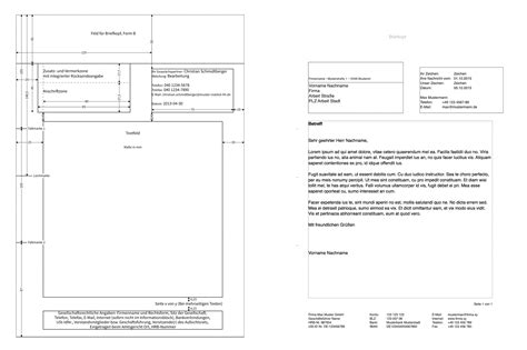 Vorlage Moderner Brief Pages Norm Din 5008 Brief Vorlage Numbersvorlagen De