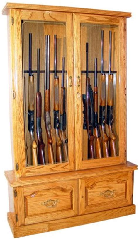 solid wood 6 gun cabinet solid oak 12 gun cabinet fza021 best gun safes for sale