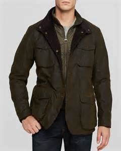 Cloth Jackets Barbour Ogston Waxed Cotton Heavyweight Jacket In Green