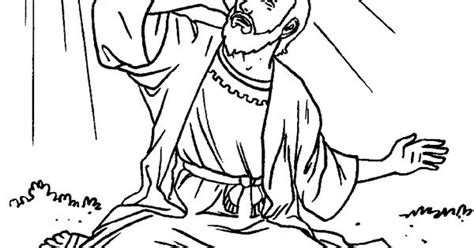 Coloring Page Acts 9 by Saul Sees The Light Bible Paul Acts His Letters