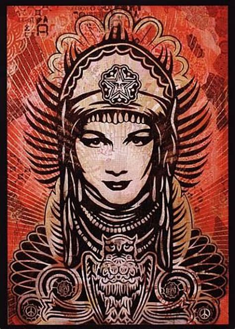 shepard fairey peace goddess print 20 best images about shepard fairey on