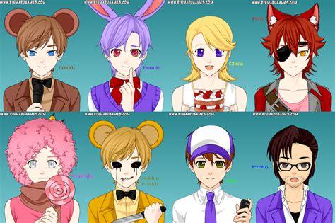 imagenes de fnaf in anime anime fnaf by pinksonic42 on deviantart