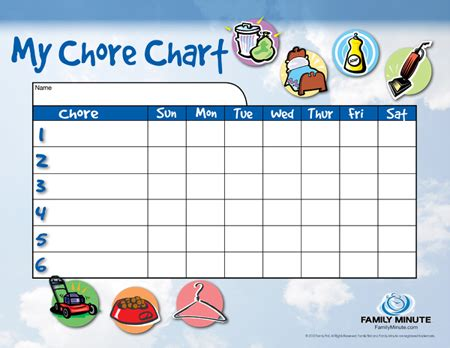 9 best images of my chore chart printable dogs free