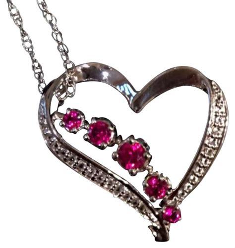 Ruby Pendant Silver Necklace silver necklace tradesy
