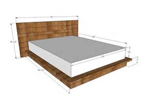 Wooden Bed Frame Dimensions White Rustic Modern 2x6 Platform Bed Diy Projects