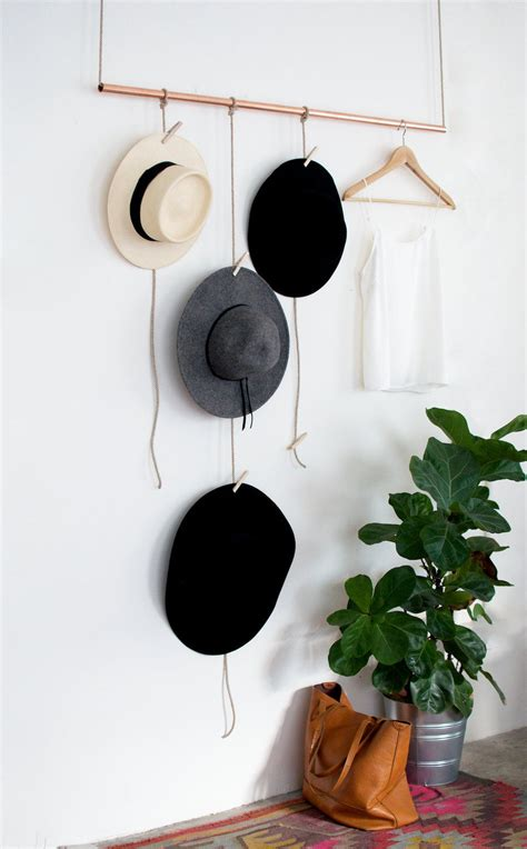 Hat Hanger Ideas | hang up your fedoras and stetsons with these 22 diy hat racks