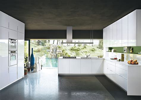 modern sleek design contemporary italian kitchen offers functional storage