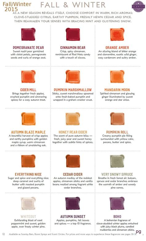 fall scents scentsy 2015 fall winter scents order today at