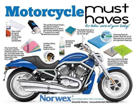 norwex boat cleaner norwex has your motorcycle must haves amanda weber