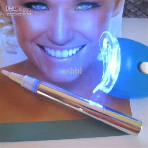 teeth whitening pen blue light and teeth whitening pen