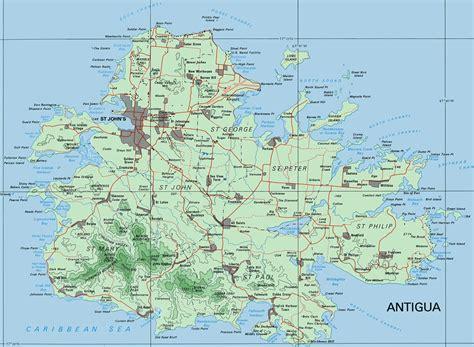 map of antigua and barbuda antigua barbuda maps