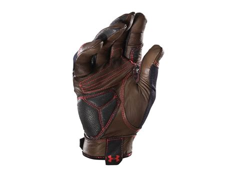 under armoir gloves under armour ua leather impact gloves synthetic blend