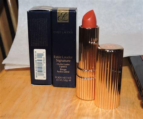Estee Lauder Signature Lipstick by Estee Lauder Signature Hydra Lustre Lipstick 34 Copper Coral