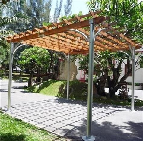 woodwork steel pergola diy pdf plans