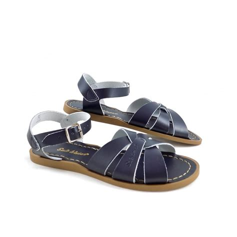 water sandals salt water sandals original water sandals navy leather