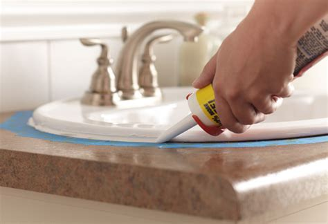 how to caulk a bathroom sink how to caulk at the home depot