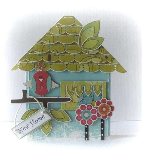 new home card template the cutting cafe house shaped card