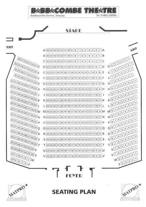 a seating plan theatre seating plan babbacombe theatre