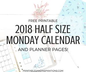 free printable daily agenda half size journals freebies printables and inspirations