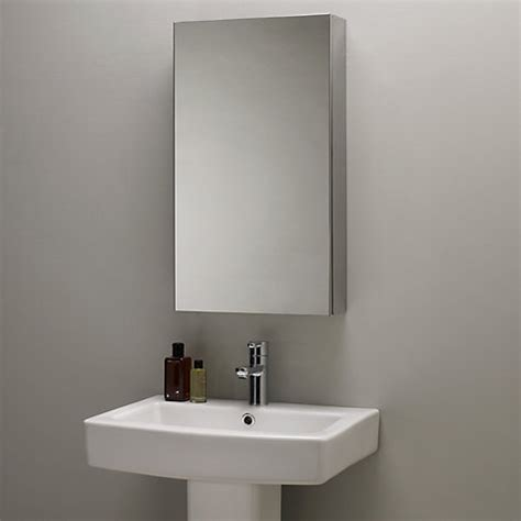 stainless steel mirrored bathroom cabinet buy john lewis single mirrored bathroom cabinet large