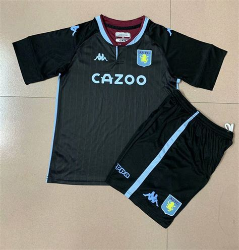 aston villa black kit kits   day arsenal  aston